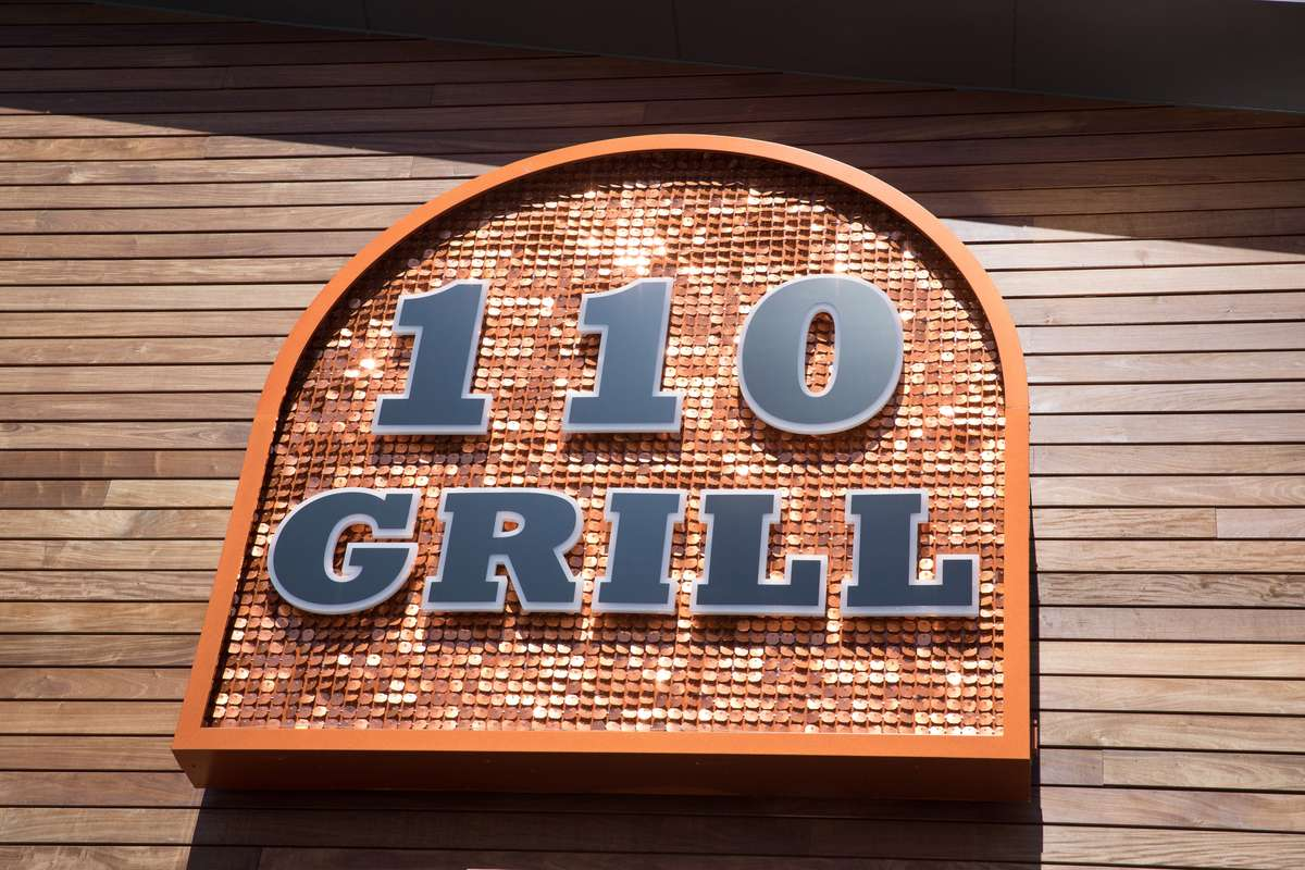 110 Grill sign
