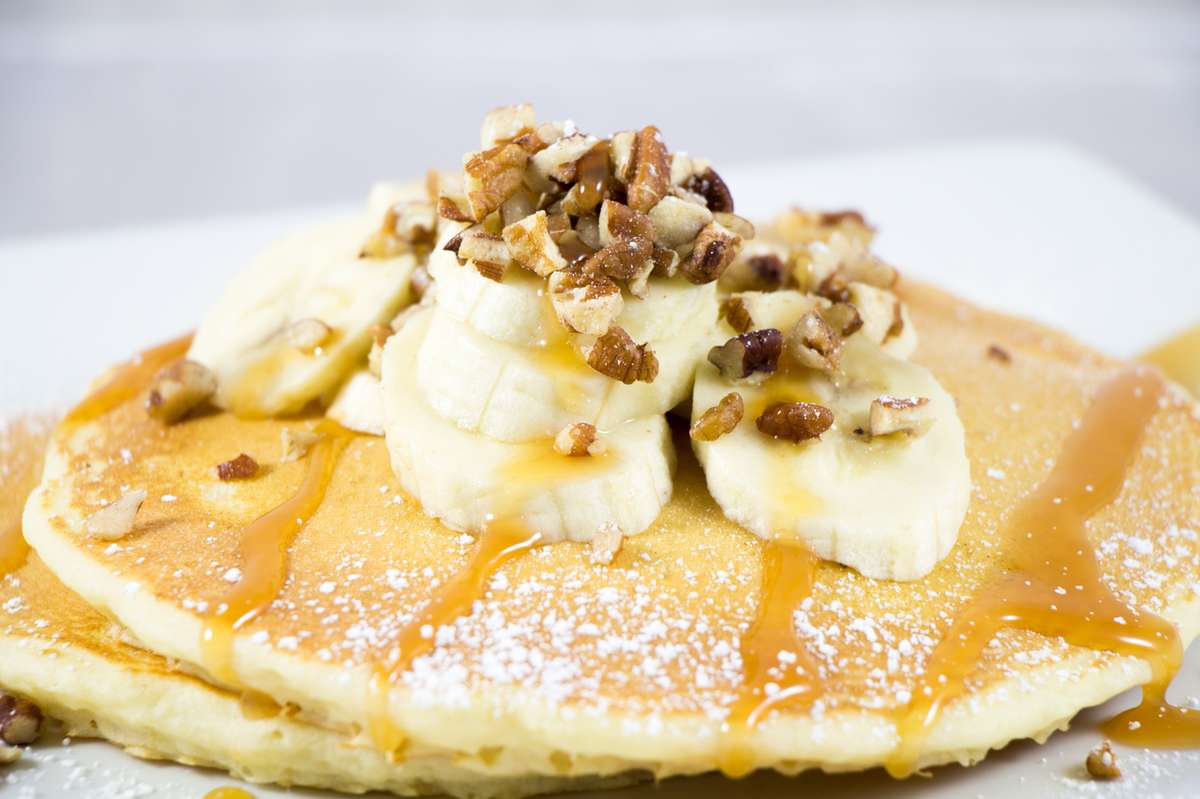 BANANA & WALNUT PANCAKES