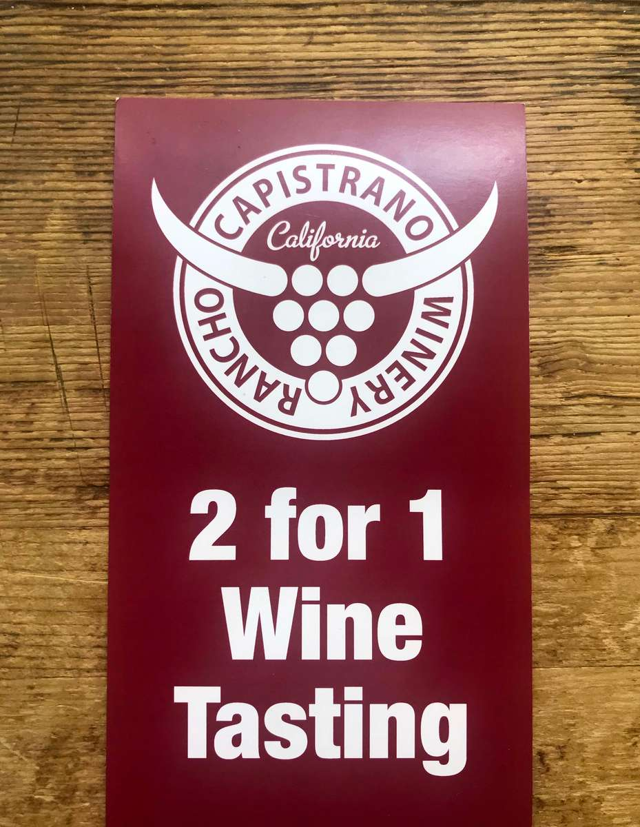2 for 1 Wine Tasting Offer