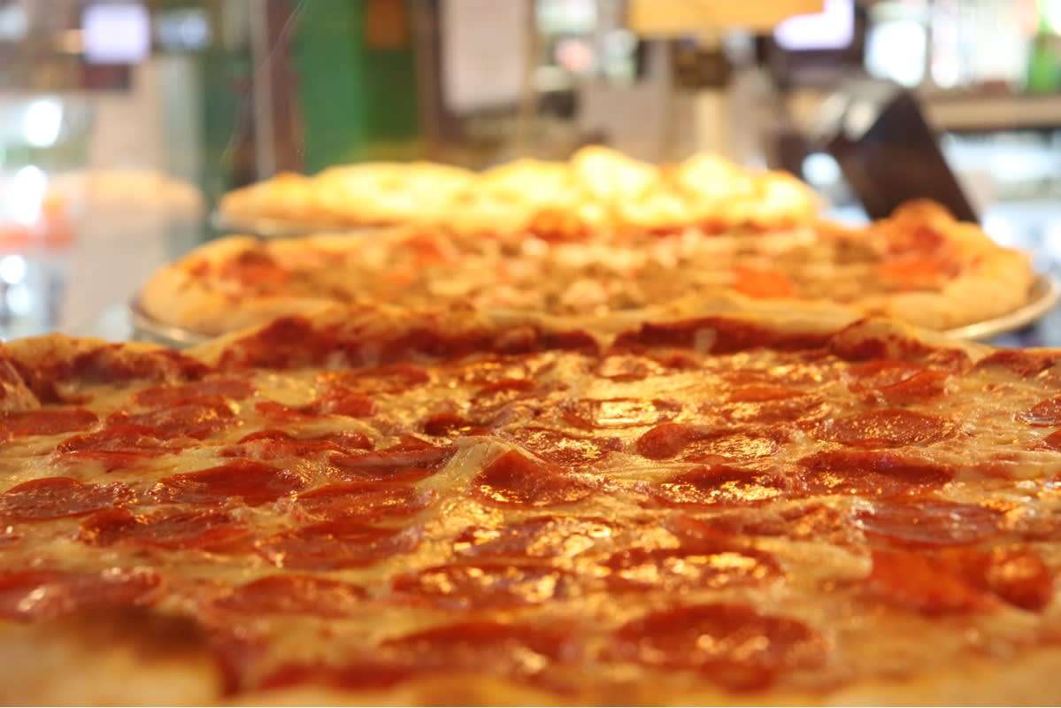 Pizza display