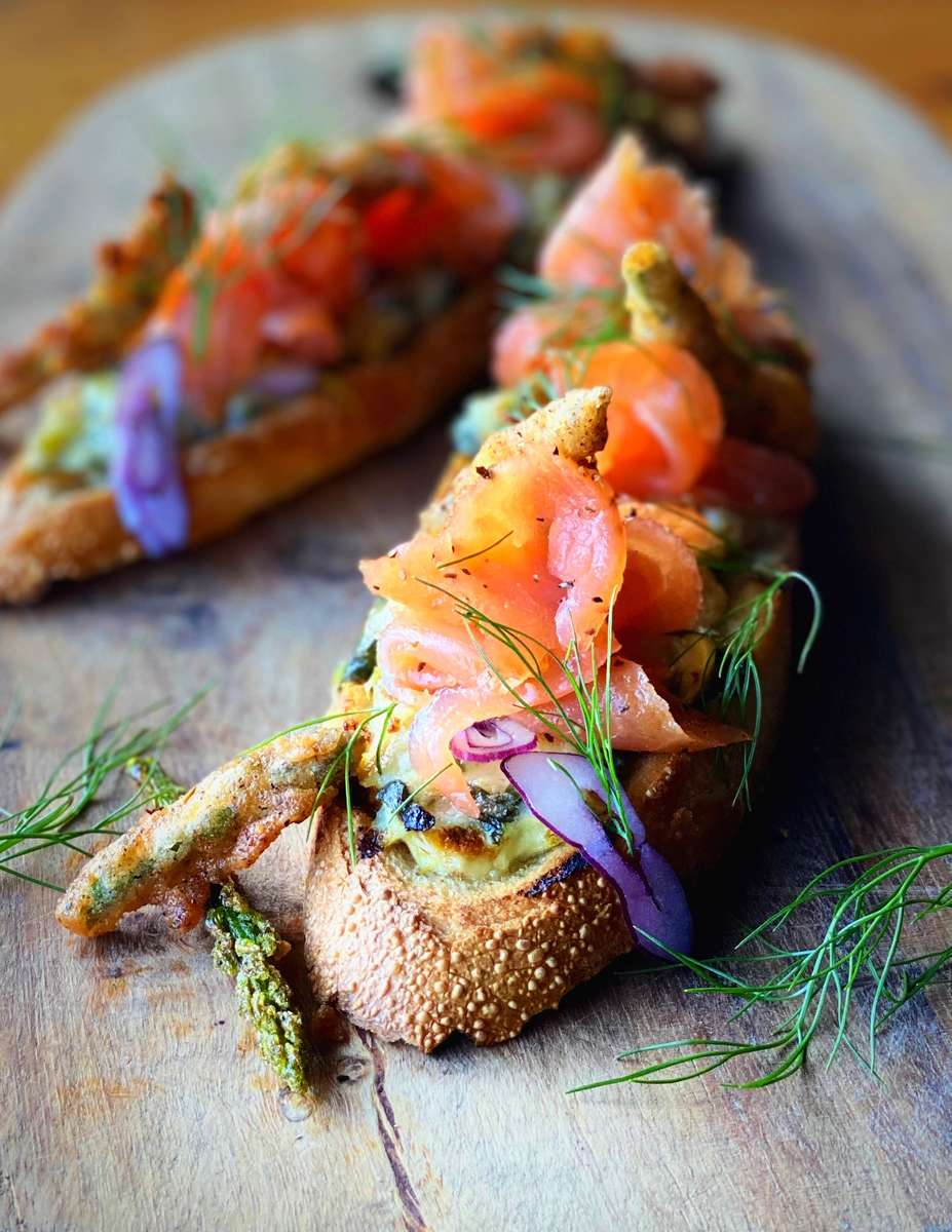 Smoked Salmon Baguettes