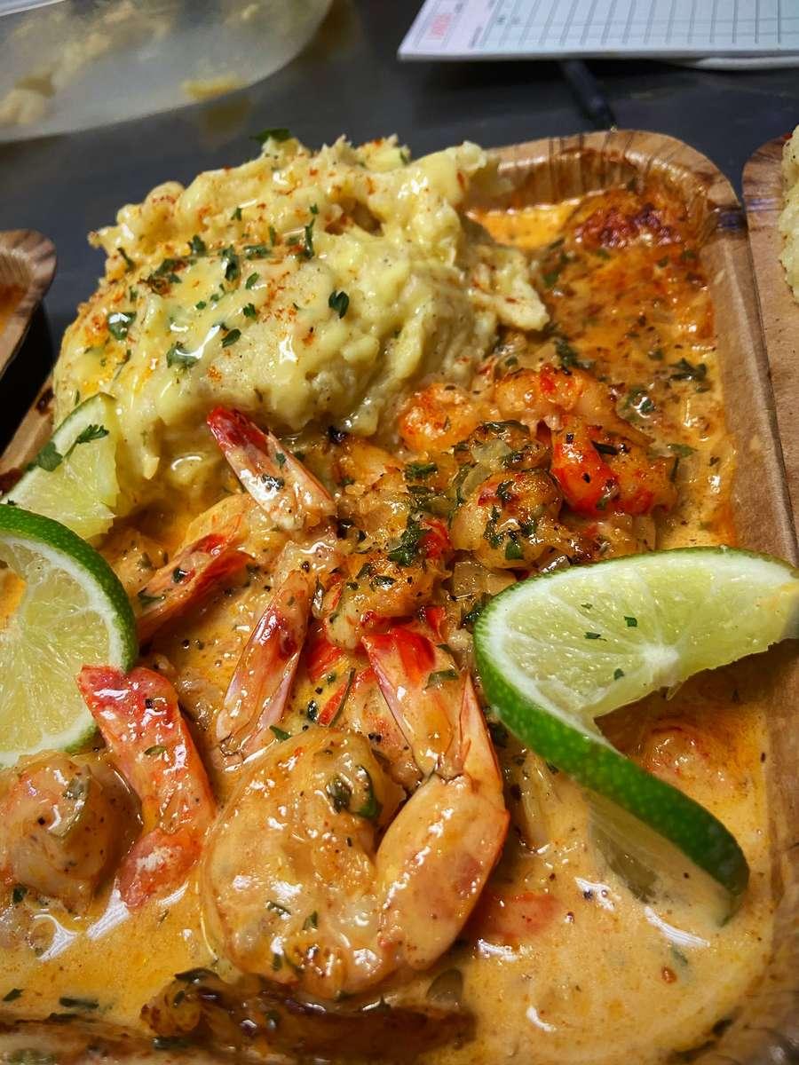 Cajun Cream Baked Fish & Gold Mash
