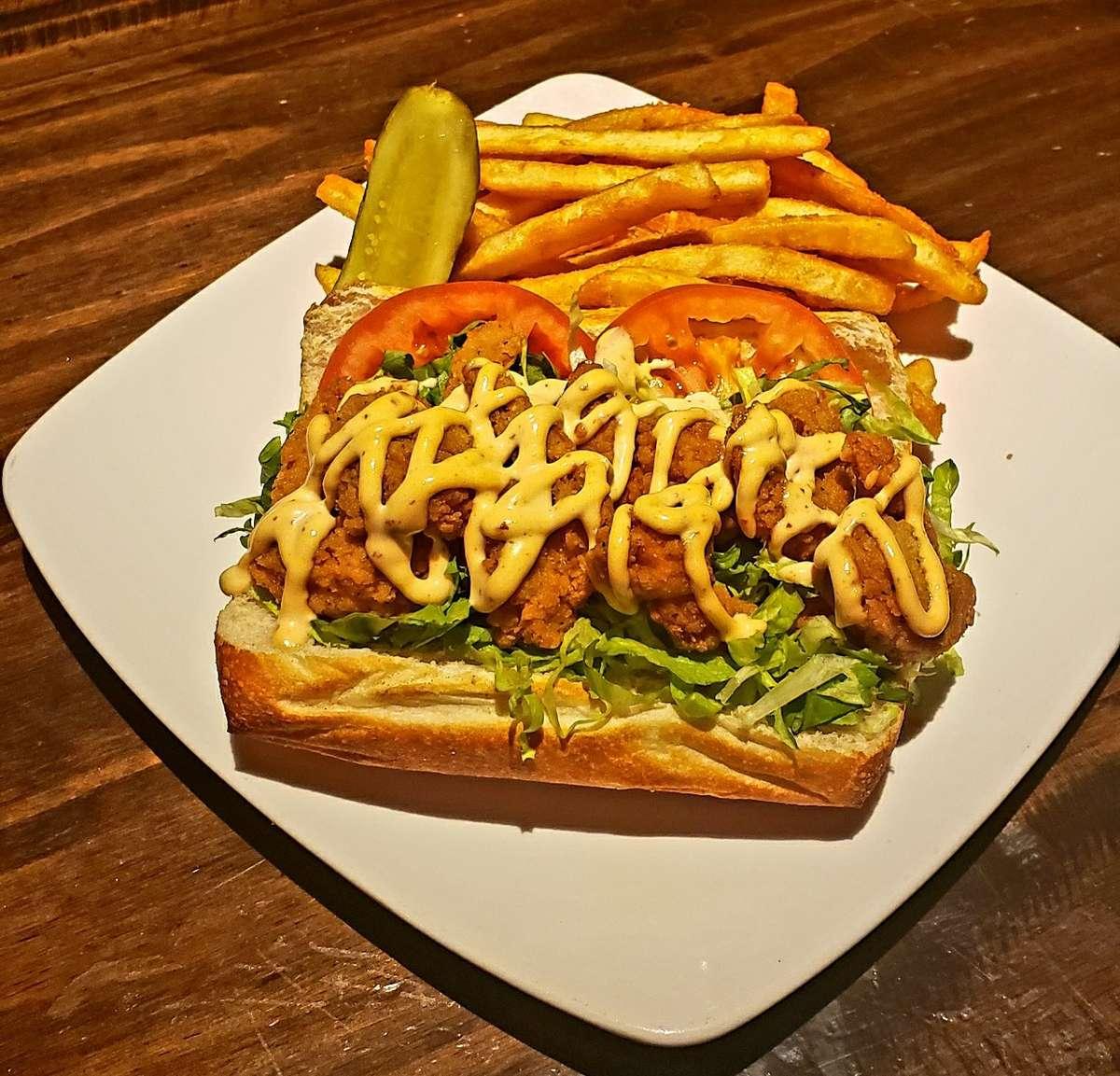 Shrimp Po'Boy Sandwich