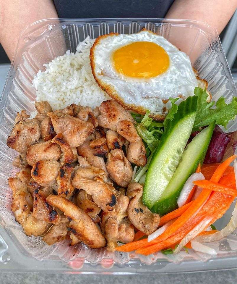 BBQ Chicken Rice Dish