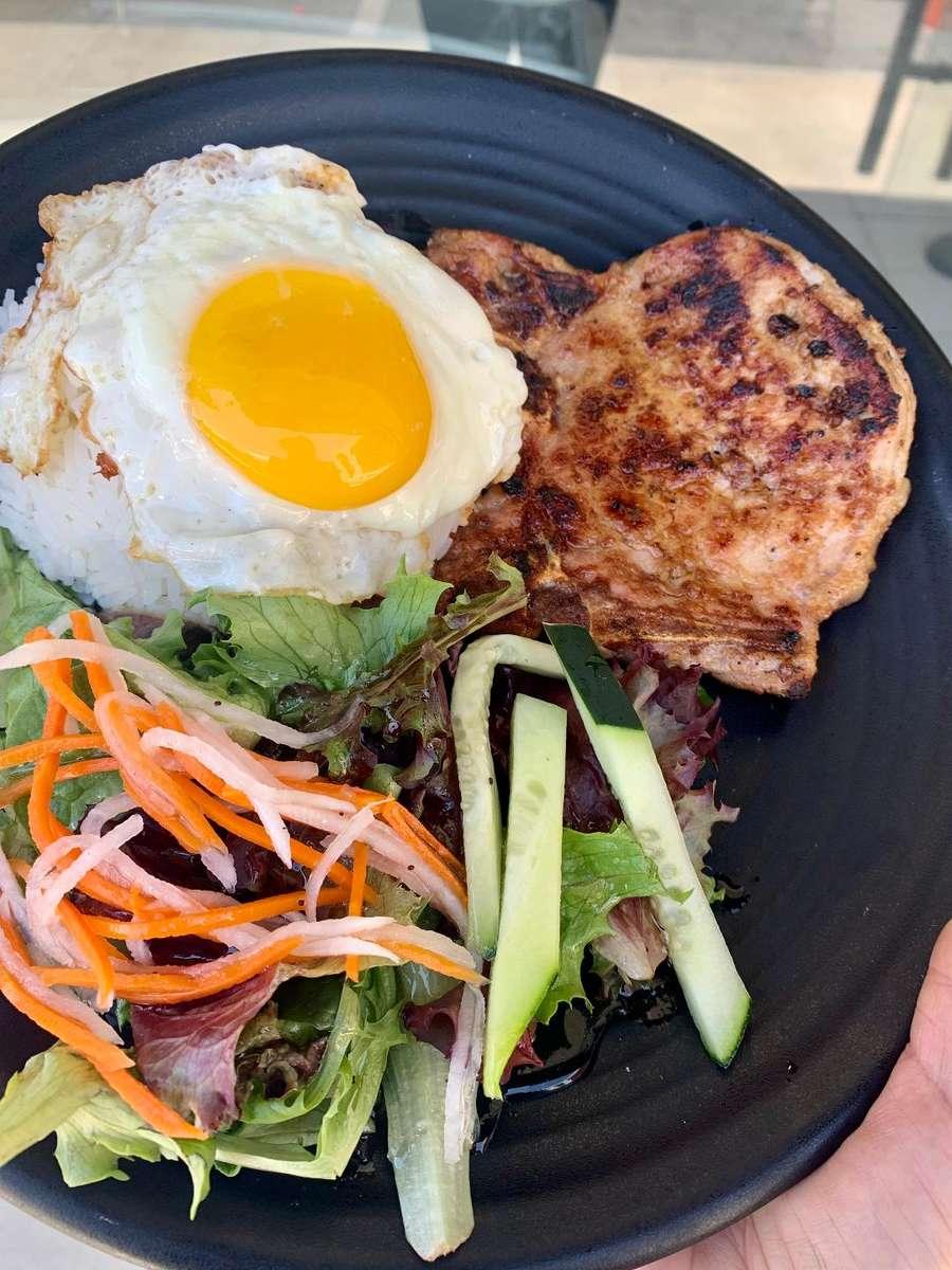 Grilled Pork Chop Rice Dish