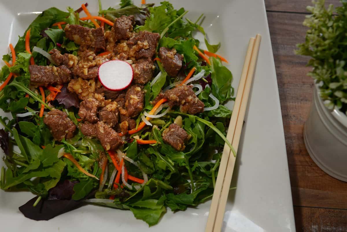 Shaken Beef Salad