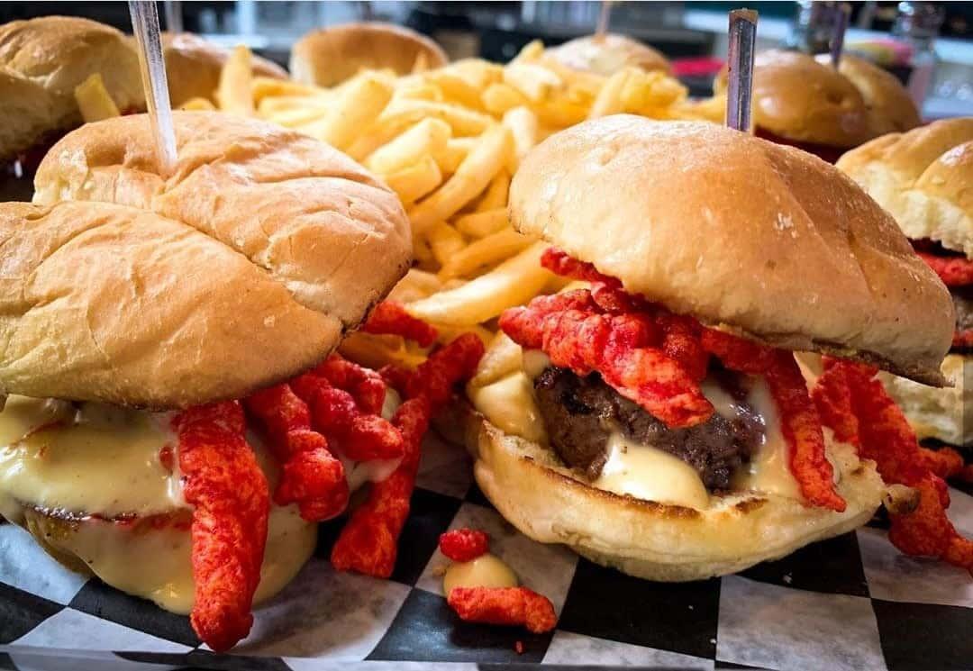 Hot Cheeto Cheeseburger