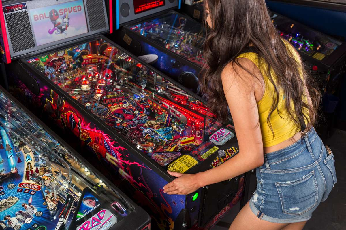 woman playing game