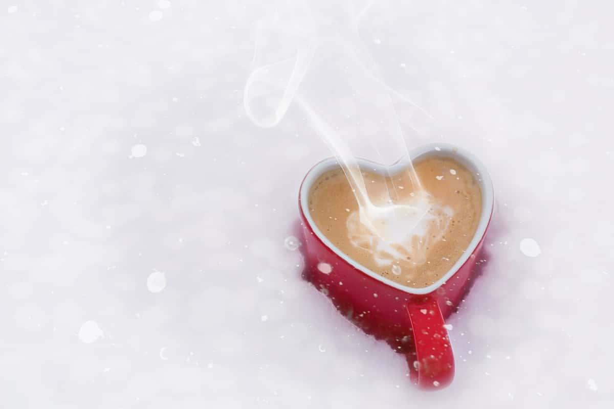 Coffee Mug shaped like a Heart
