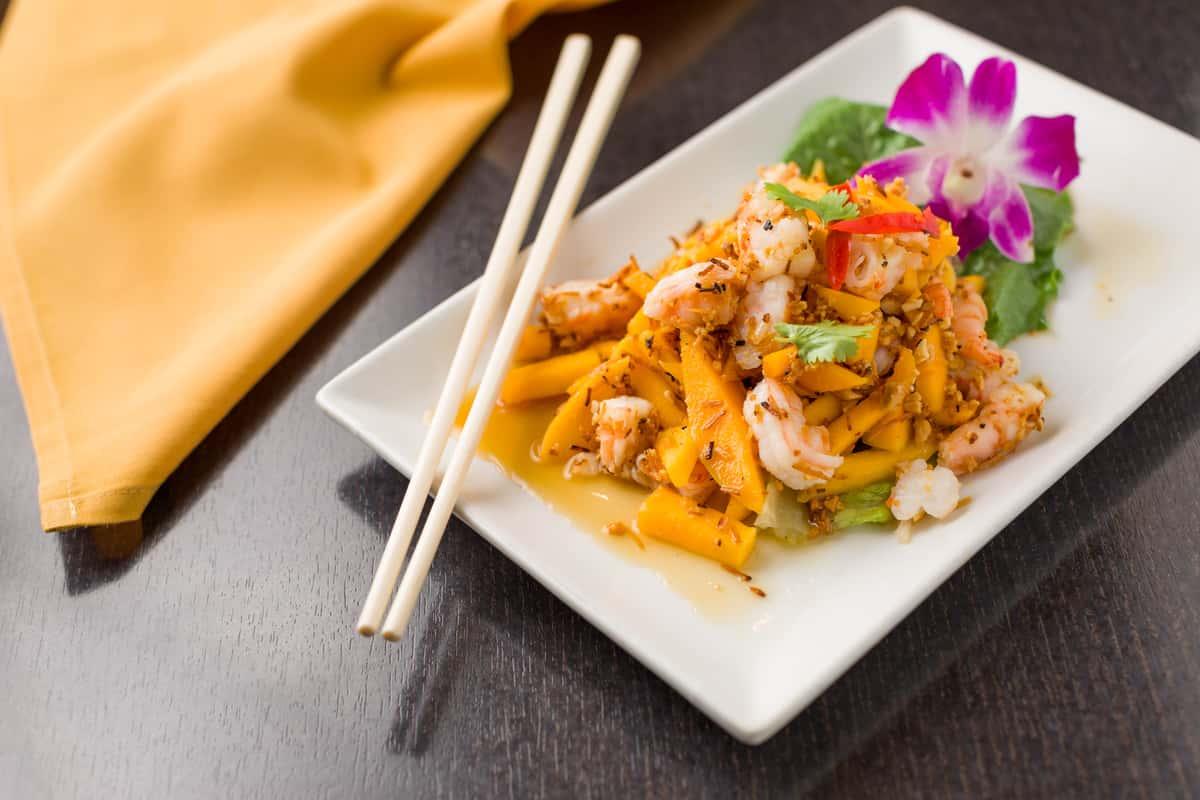 coconut mango shrimp