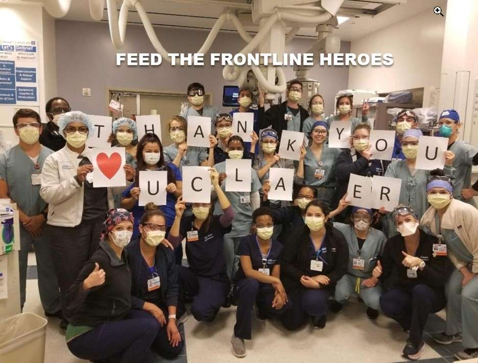 group feed the frontline heroes