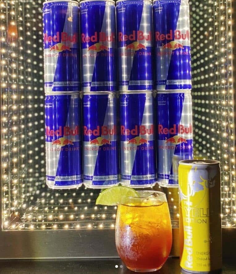 Red Bull-Thai Iced Tea (Cha Ma-Now)