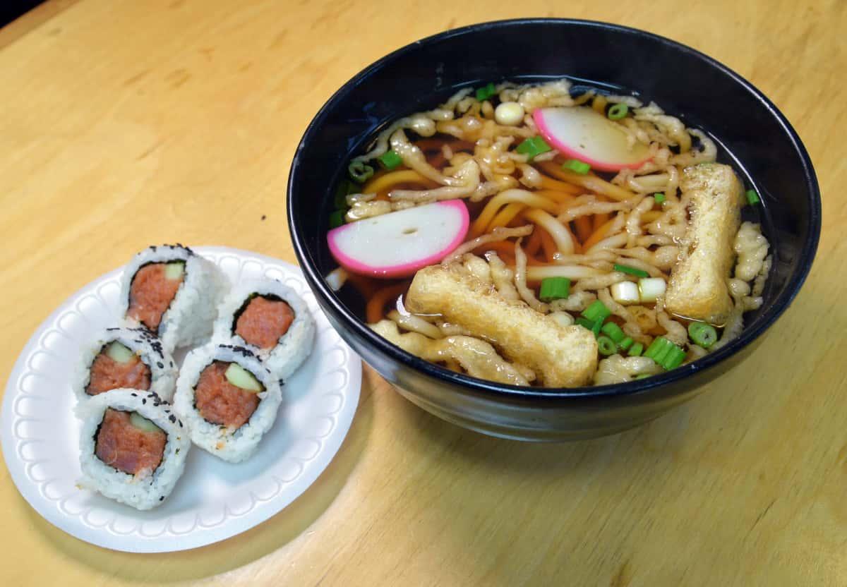Udon & Spicy Tuna Roll