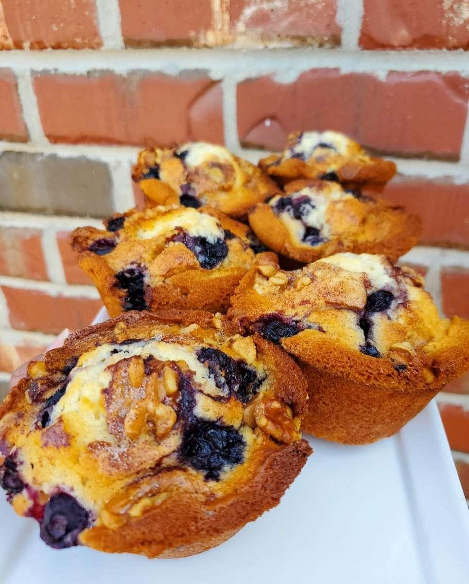 Blueberry Walnut Muffin