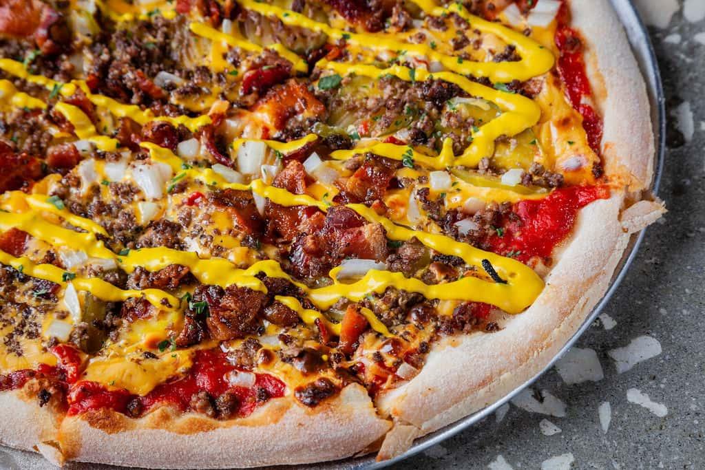 """Cheeseburger Pizza 14"""""""