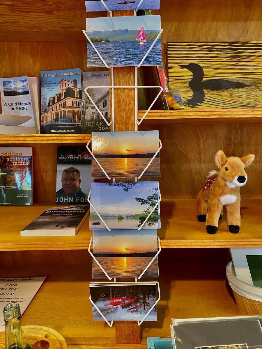 Book and postcard display