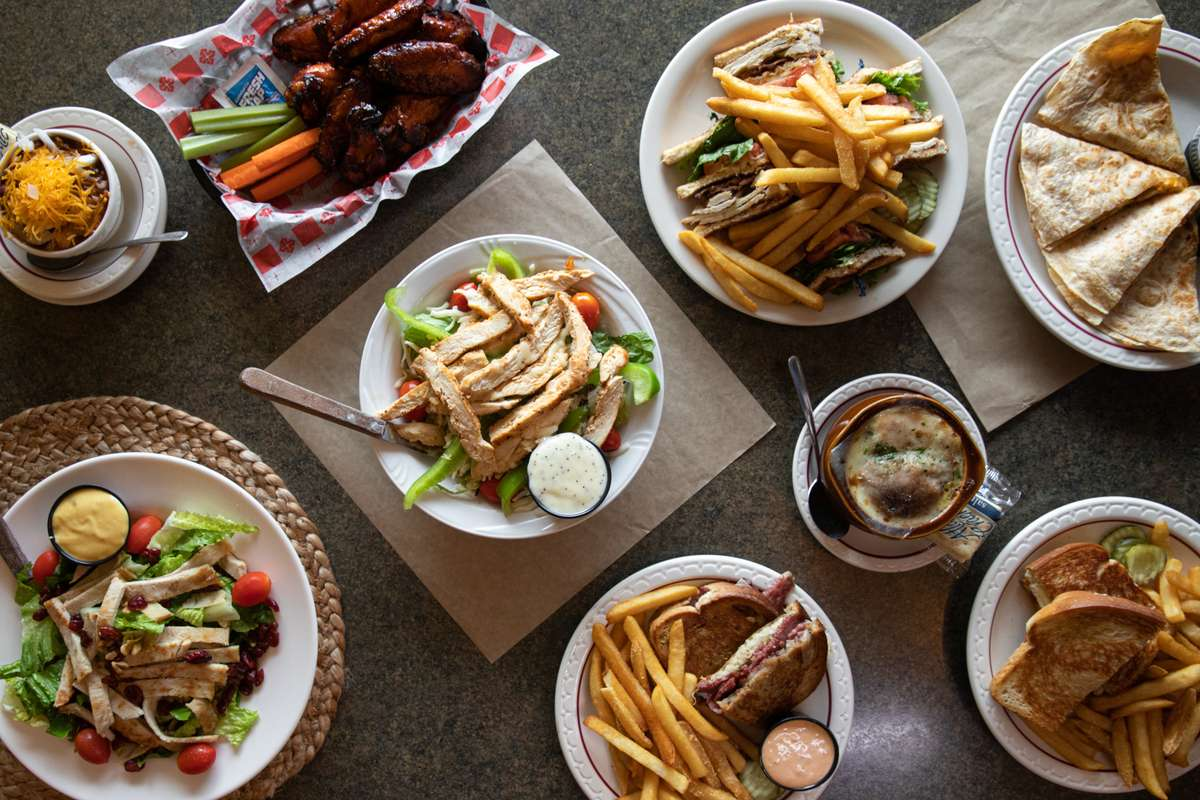 various diner dishes