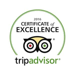 2016 Certificate of Excellence Trip Advisor