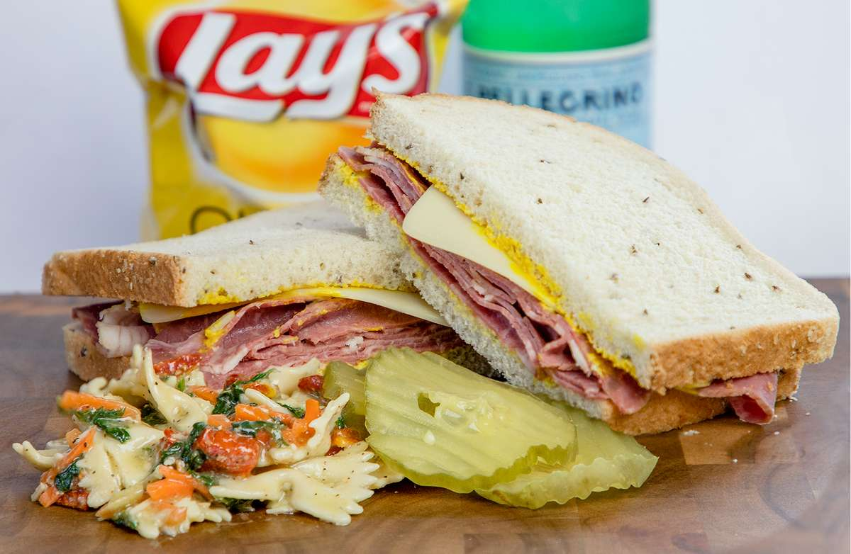 CORNED BEEF & SWISS ON RYE W/SALAD
