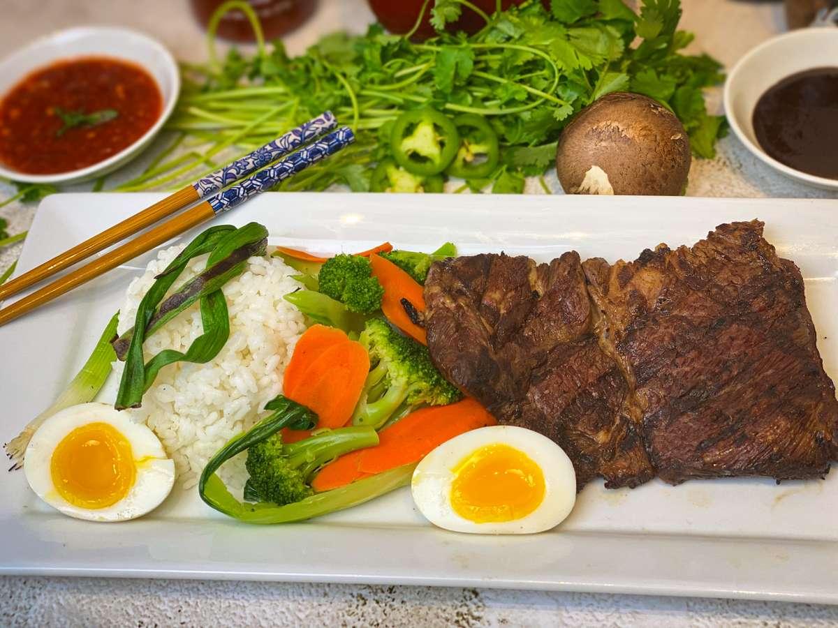 Steak Rice Plate