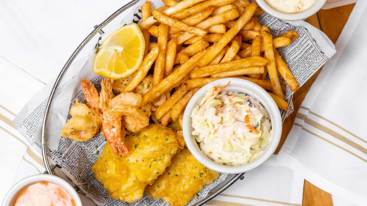 Cod Fish 'N' Chips & Gulf Shrimp