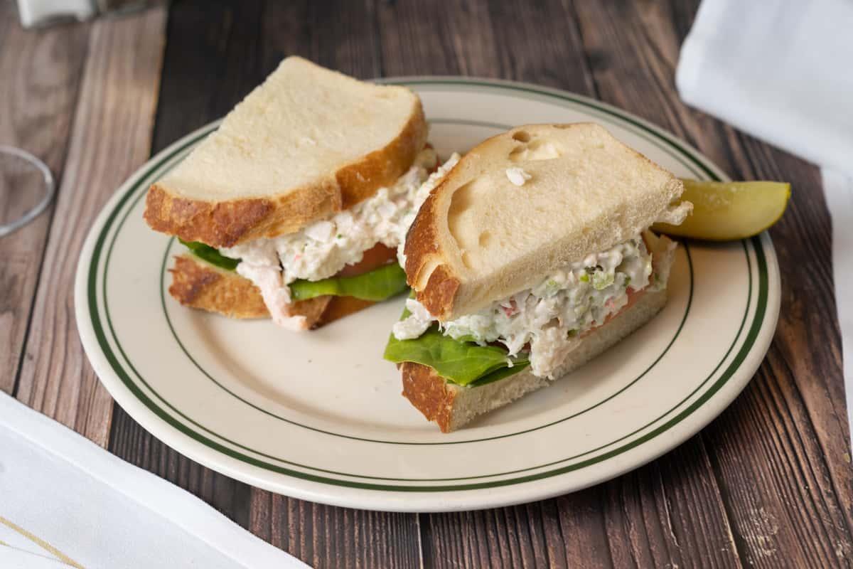 Mixed Seafood Salad Sandwich