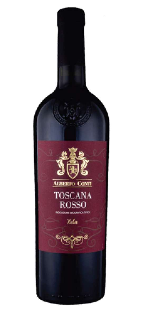 Bottle of Toscana Rosso Wine
