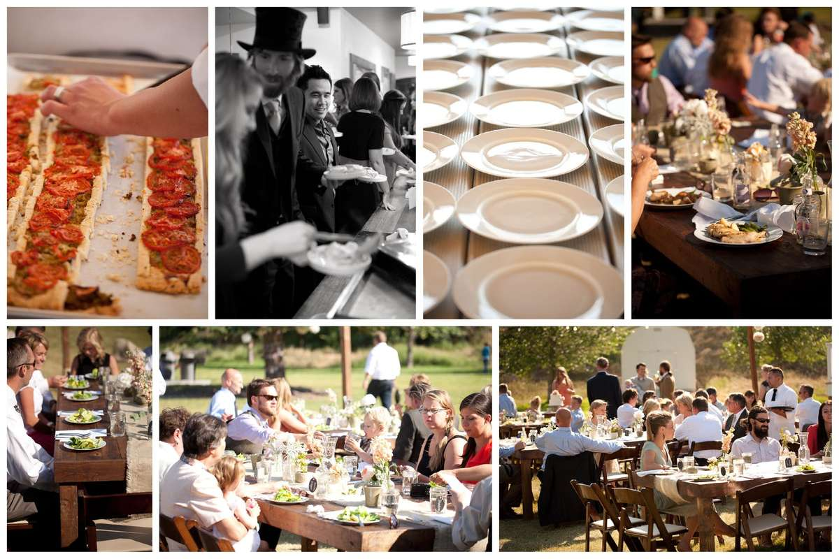 collage of catered events
