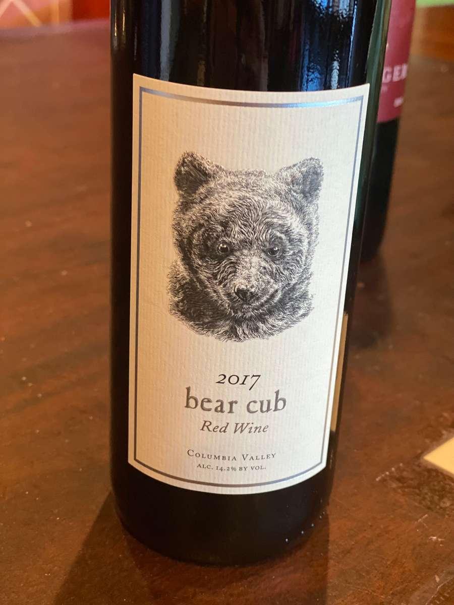 2017 Bear Cub Red Wine ..Pursued by Bear