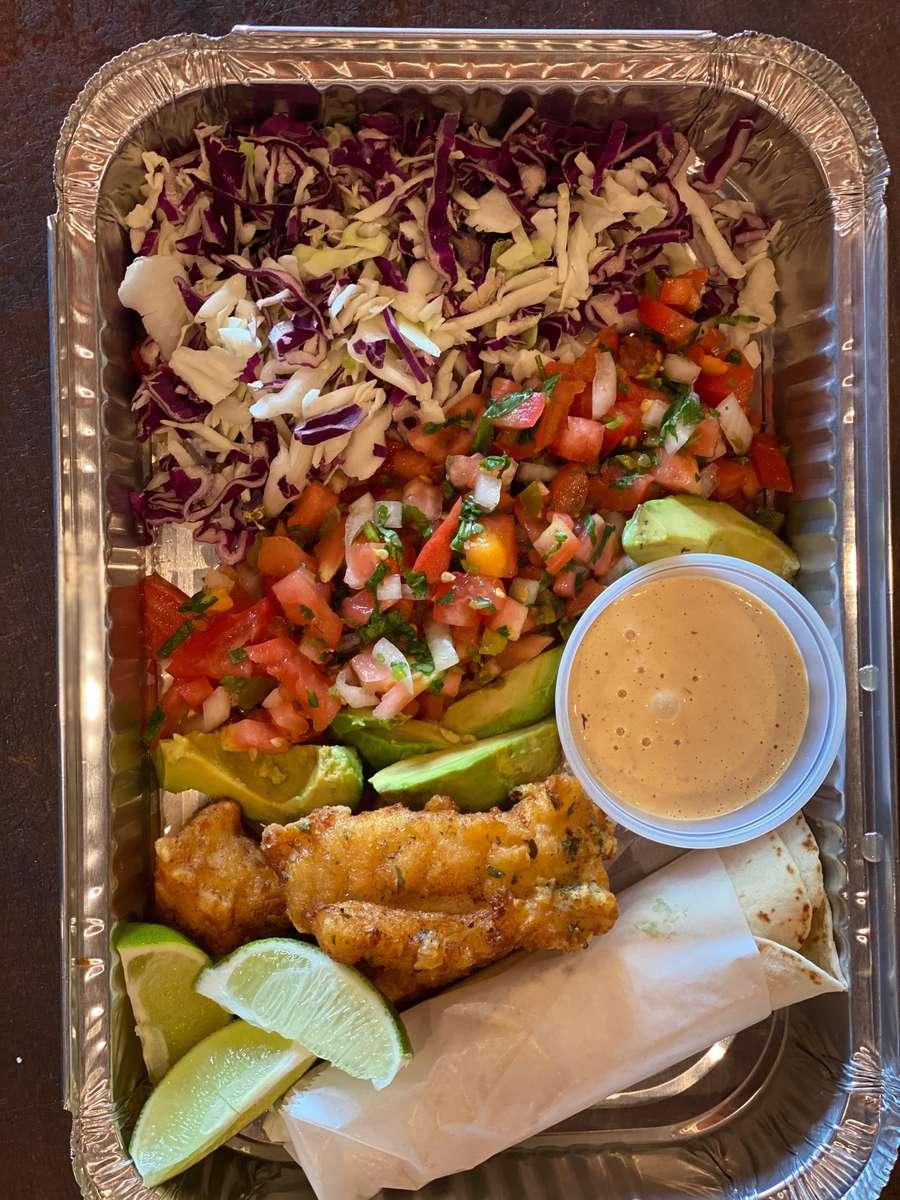 Deconstructed Baja Fish Taco Bar