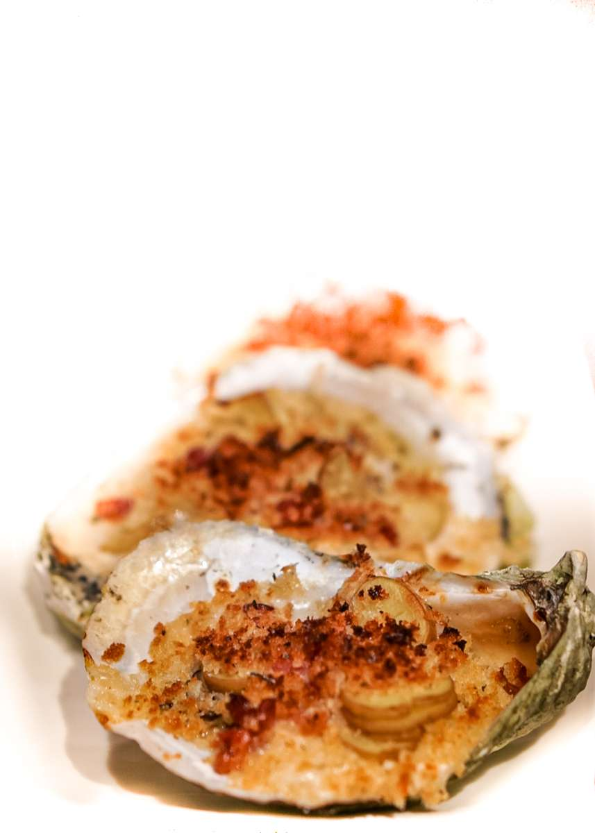 Baked Great White Oyster