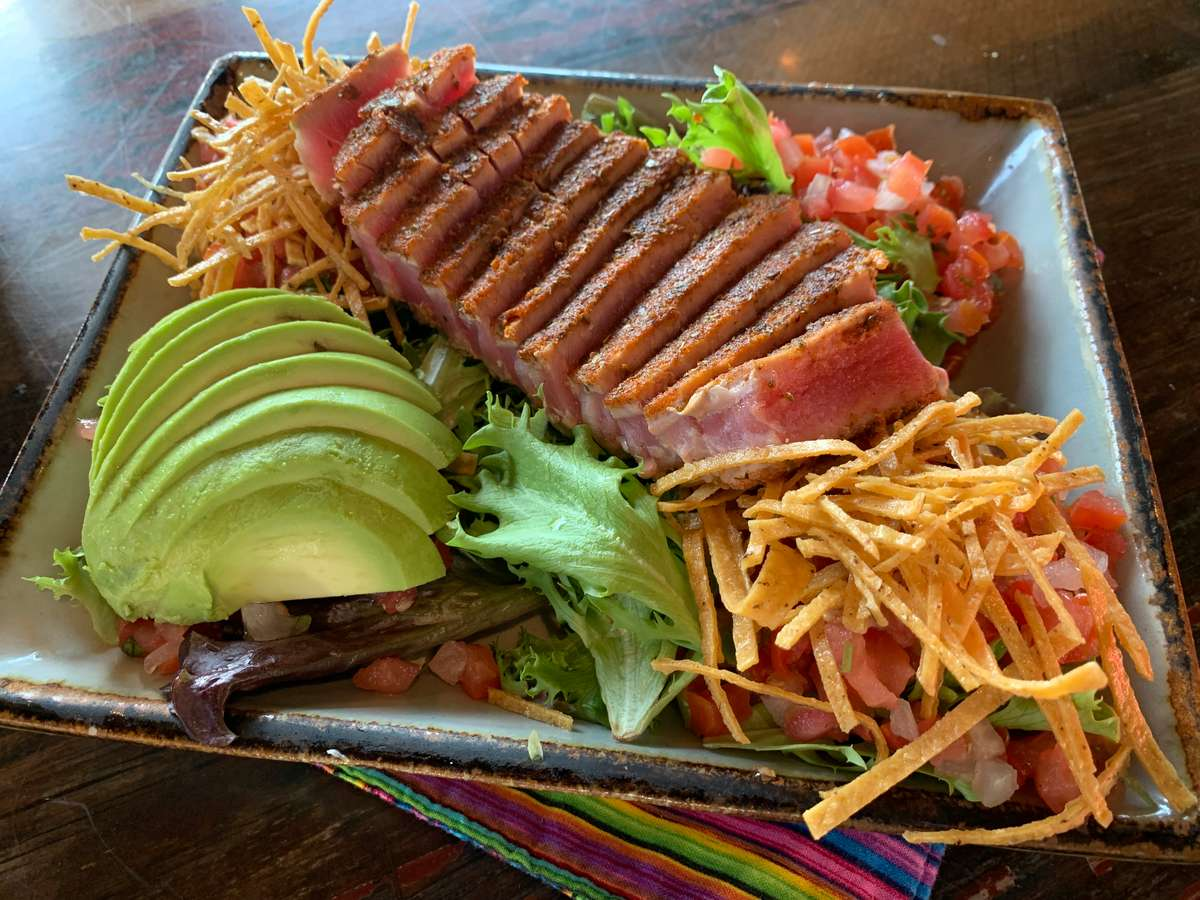 Chili-Crusted Ahi Tuna Salad
