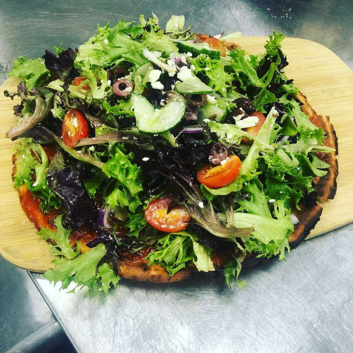 Fresh Salad Pizza