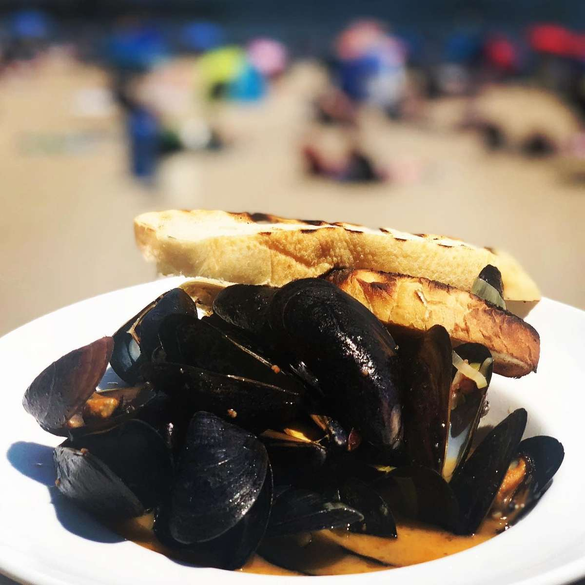 Whiskey Peppercorn Mussels