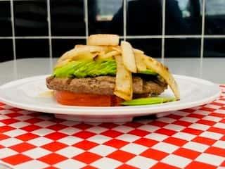 Paleo Burgers with Balsamic Onions & Avocado