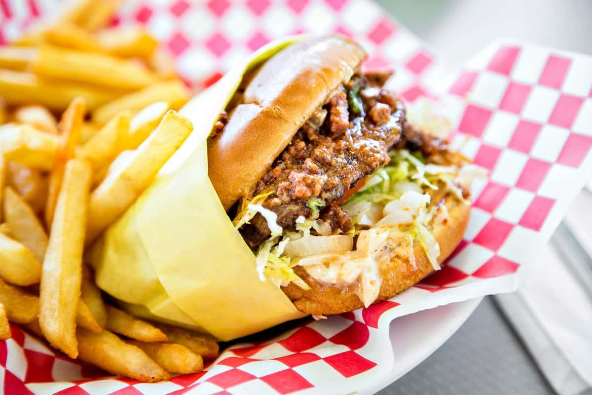 Firehouse Chili Burger