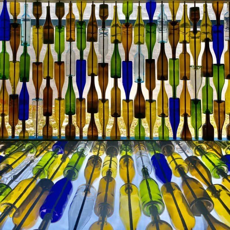 wine bottle window