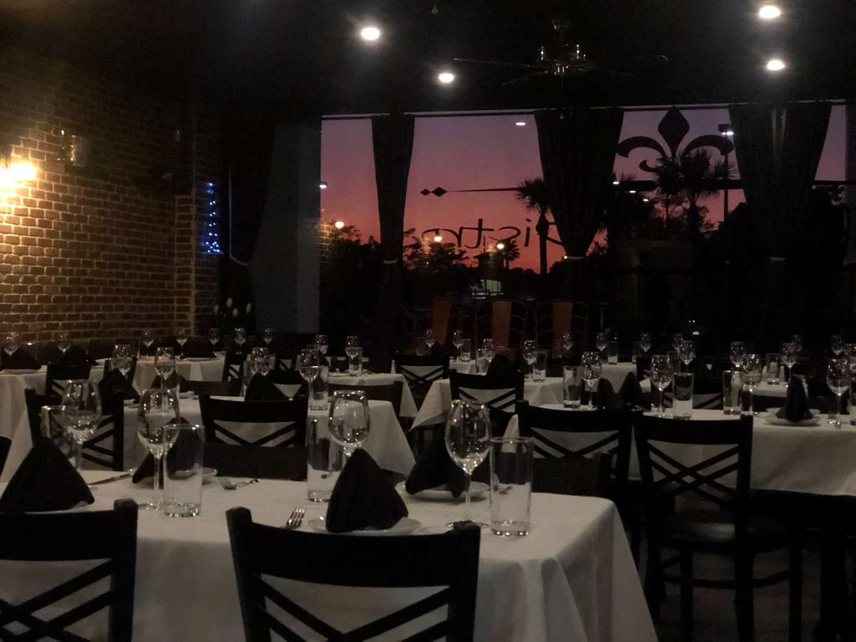 dining with sunset view
