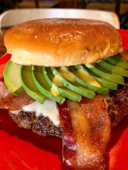 Back 40 Angus Bacon Avocado Burger