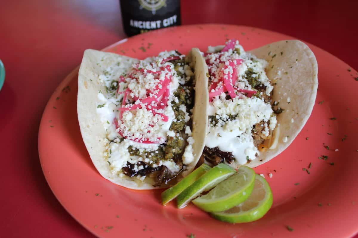 Chimichurri Pork Tacos