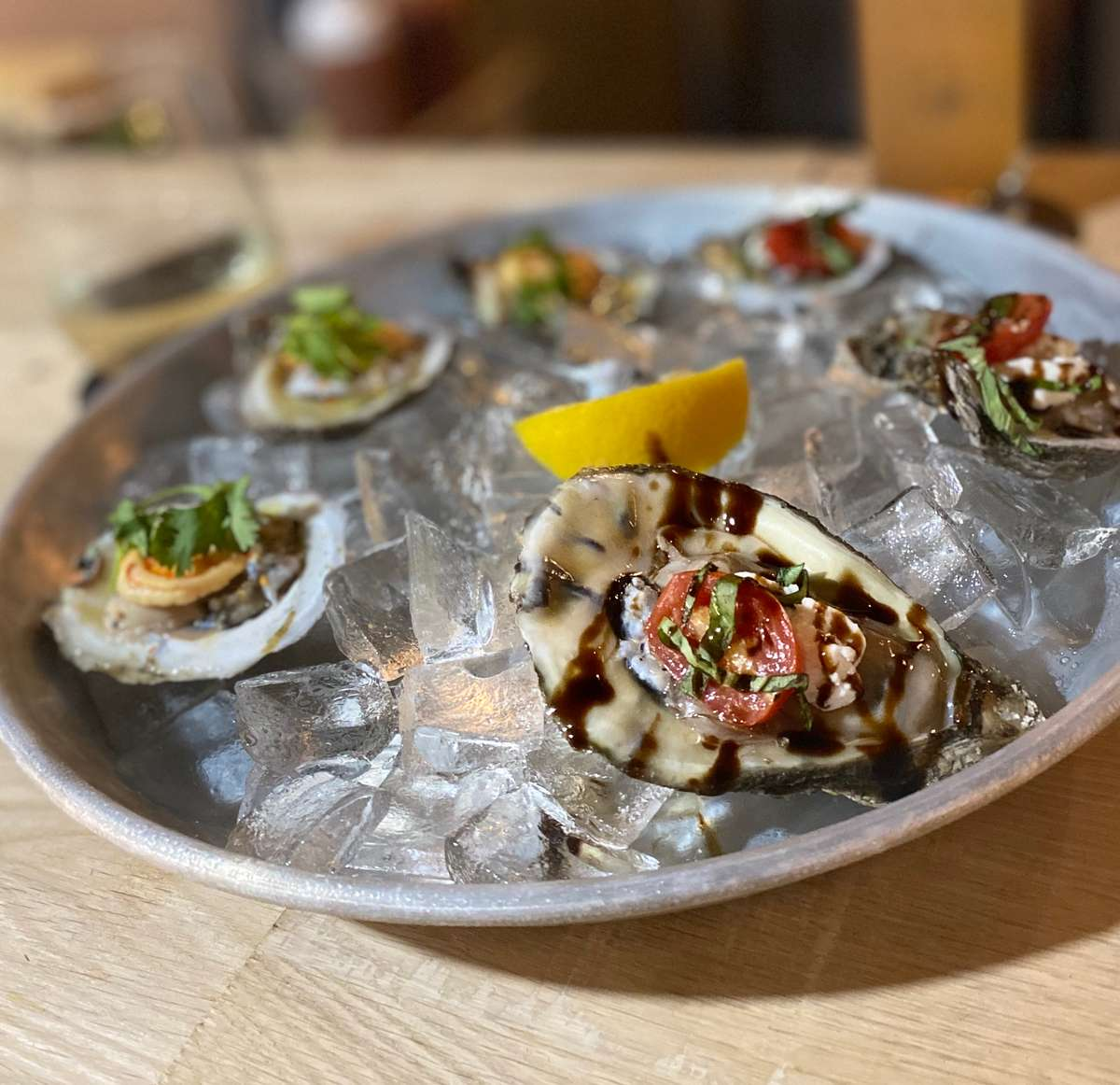 Caprese Oysters