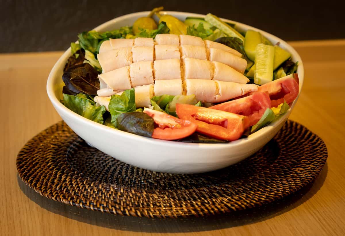Turkey and provolone salad