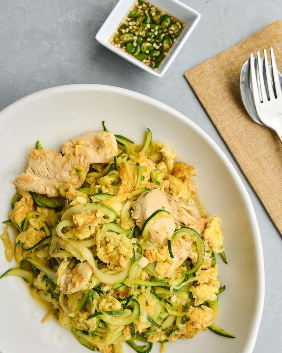 Zucchini Noodles with Shrimp