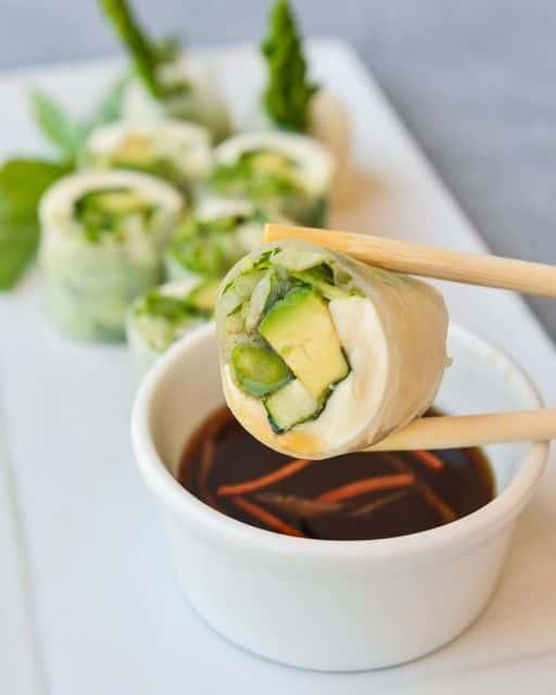 Tofu & Asparagus Spring Rolls