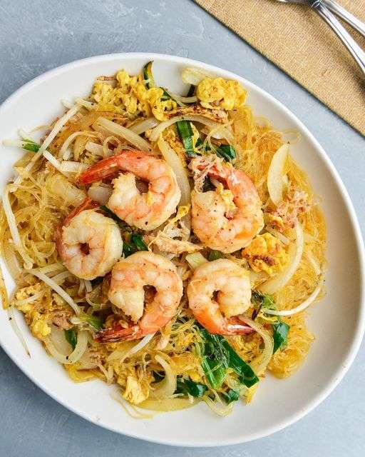 Silver Glass Noodles with Crab Meat & Shrimp