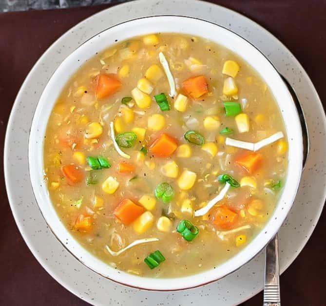 16. Vegetable Corn Soup