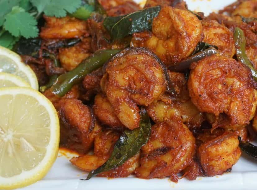 26. Shrimp Manchuria