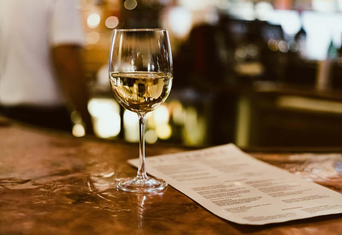 wine and menu