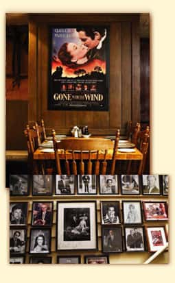 gone with the wind poster and framed signed portraits