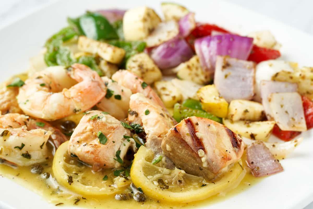 Salmon & Shrimp Kabob
